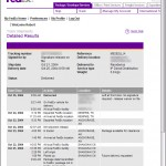 Screenshot of FedEx