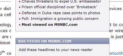 MSNBC Misrendering