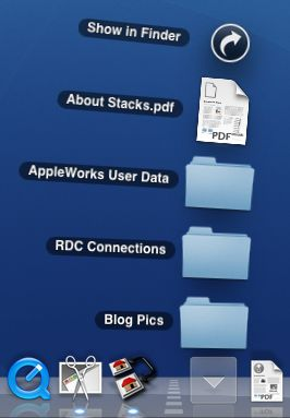 Stacks on Mac OS X Tiger