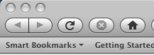 Firefox 3.0b3 Navigation Toolbar (Mac)