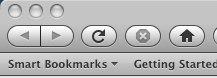 Firefox 3.0b3 Navigation Toolbar (Mac)