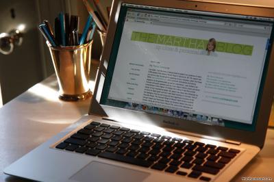 Martha Stewart's MacBook Air Running Firefox