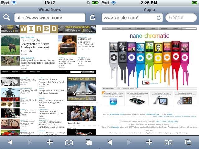 iPhone 2.2 Safari With Search Box