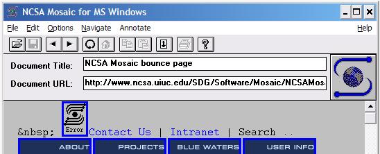 NCSA Mosaic UI