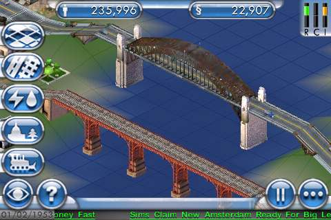 SimCity For iPhone Bridges