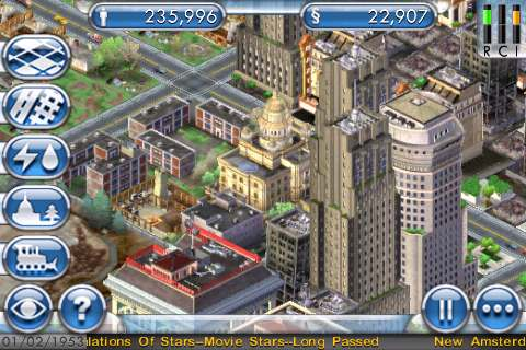 SimCity For iPhone Cityscape