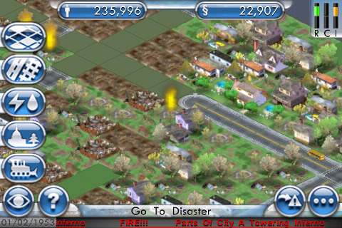 SimCity For iPhone Fire