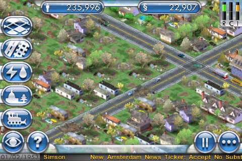 SimCity For iPhone Suburbs