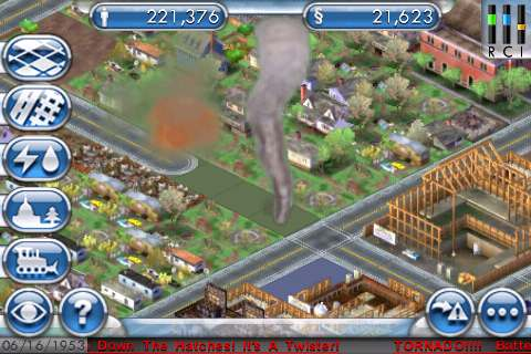 SimCity For iPhone Tornado