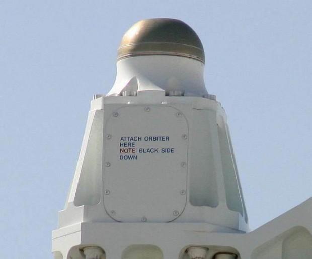 Attach Orbiter Here Note: Black Side Down