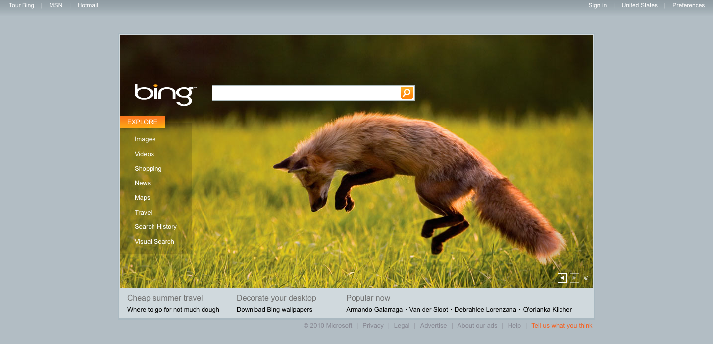 Firefox on Bing 2 Firefox On Bing for the second time.