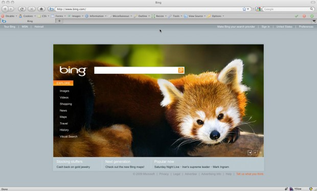 Firefox On Bing.com