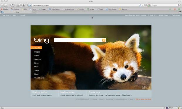 Firefox On Bing.com