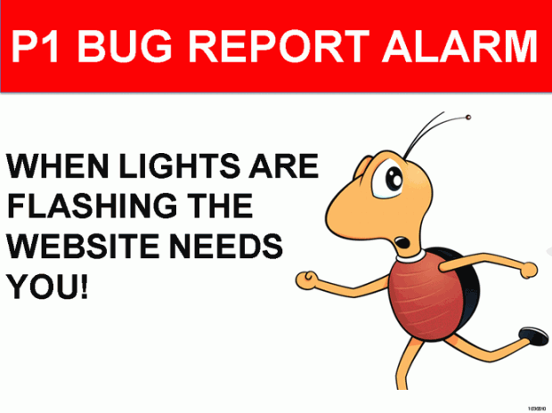 P1 Bug Report Alarm