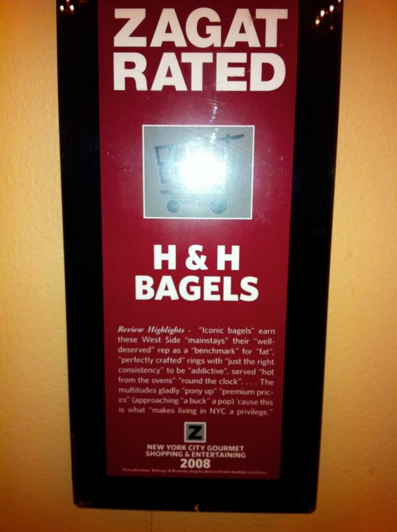 H&H Bagels Zagat Rating