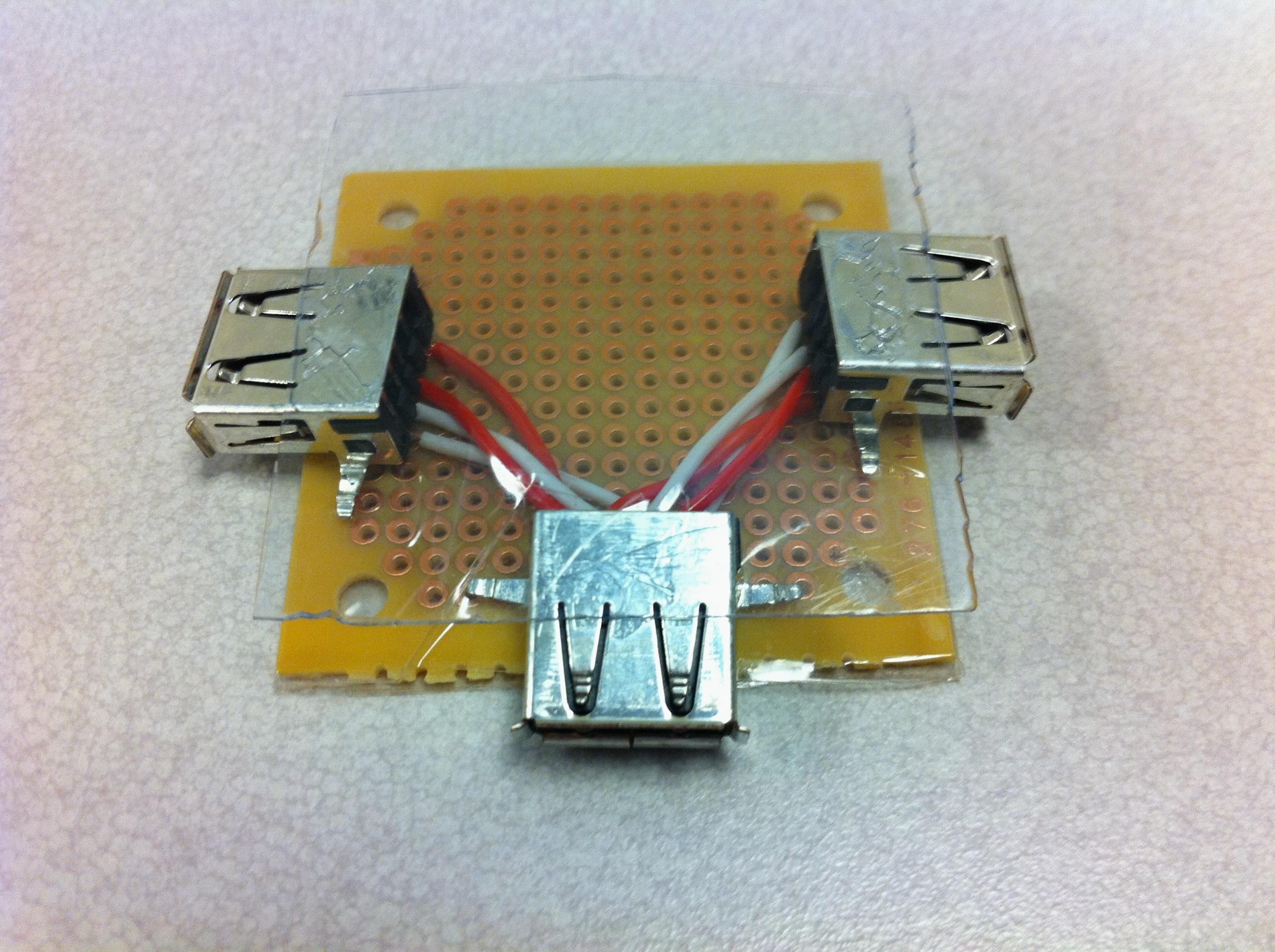 USB Alarm Visual Audio Power Distribution Board