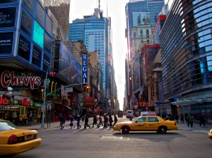"42nd Street ""shot from the hip"""