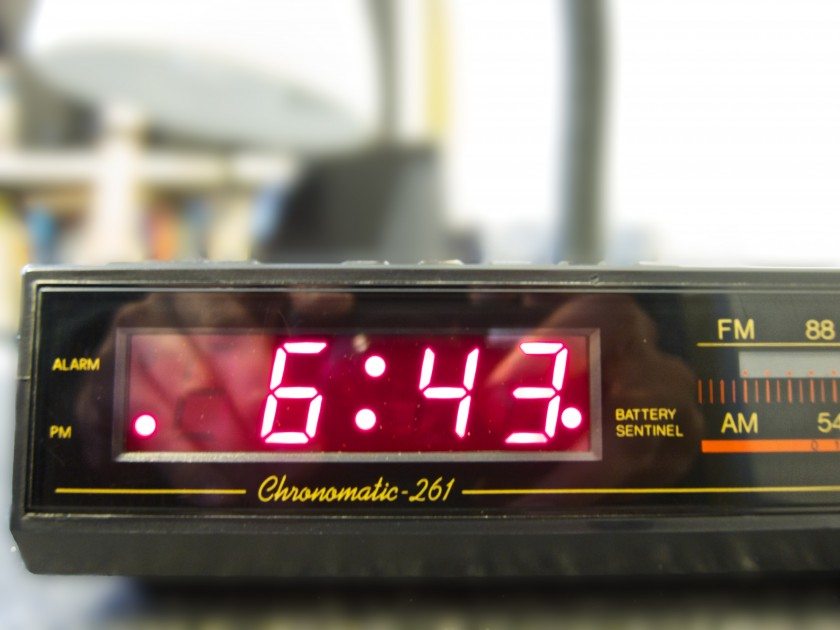 Day 90 - Looking At The Alarm Clock