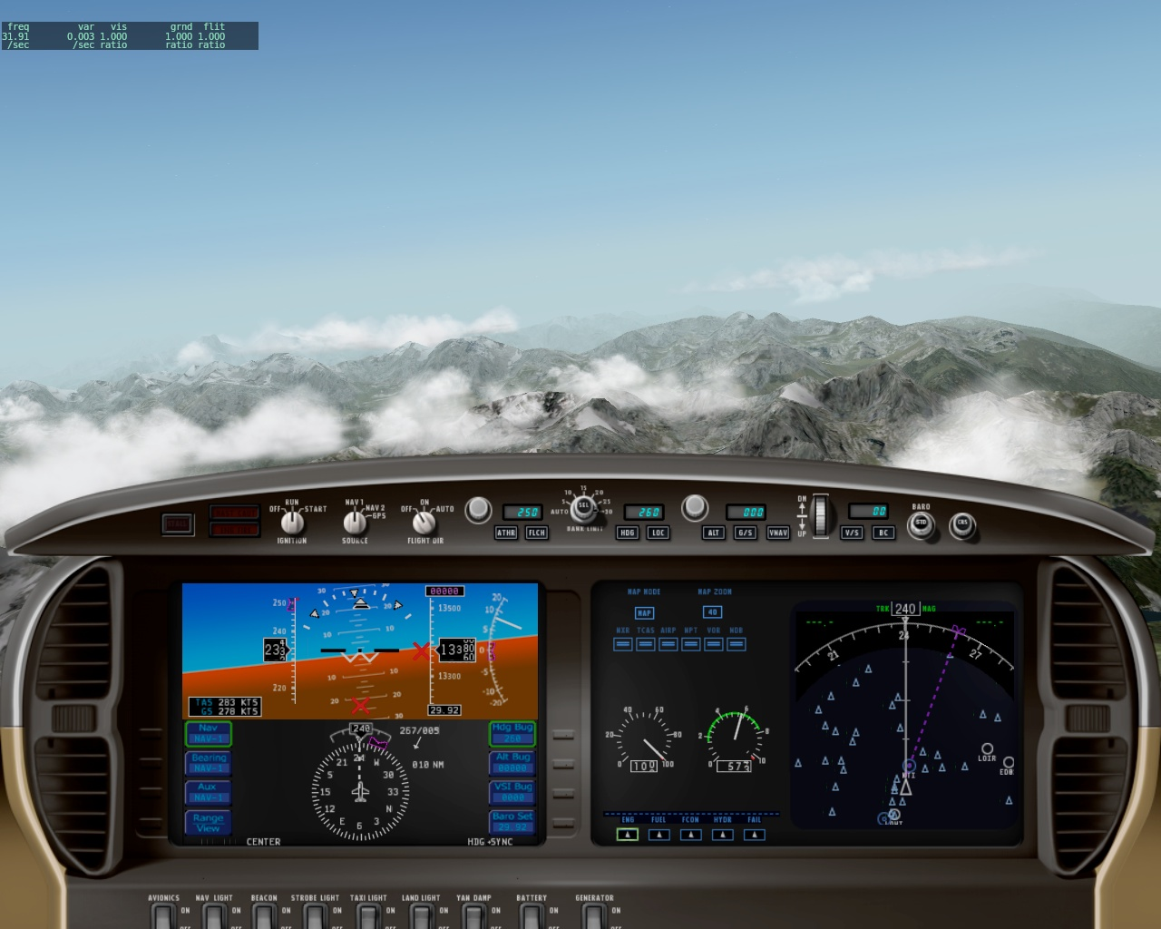 Day 182 - Cirrus Vision SF50 Over Innsbruck