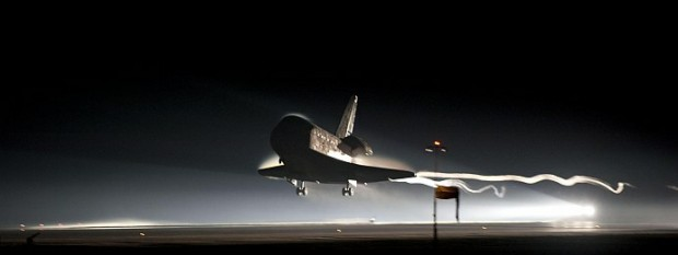 Shuttle Atlantis Landing Final Flight
