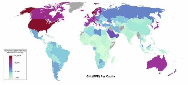 World by GNI PPP Per Capita