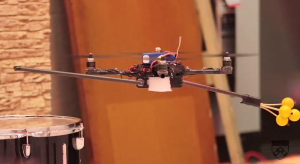 Robot Quadrotors Play Music