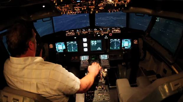 Homemade 737 Simulator