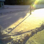 The final snowfall (already plowed)