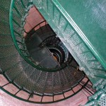 Looking down the spiral staircase of Currituck Beach Lighthouse.
