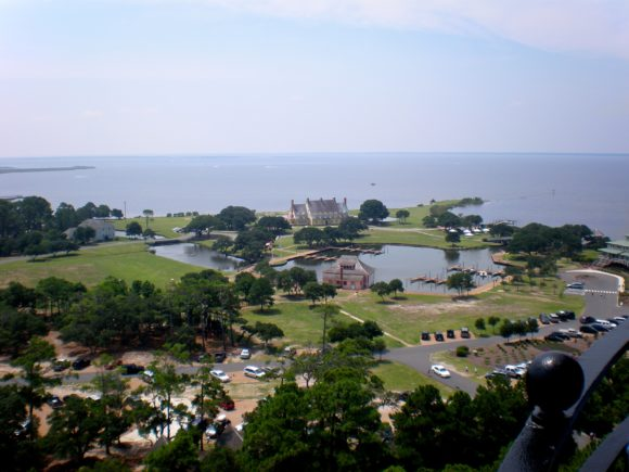 Looking out from Currituck Beach Lighthouse