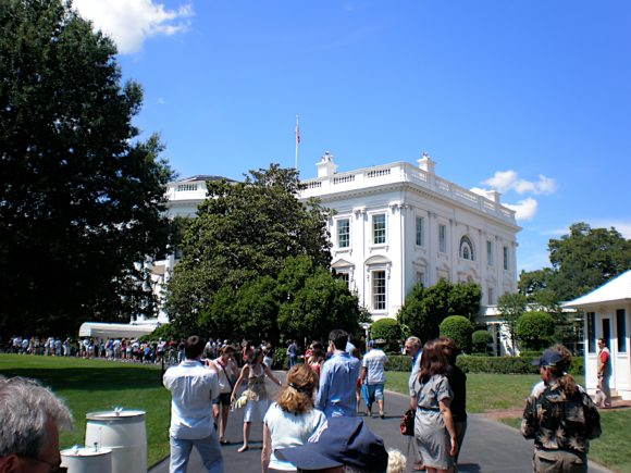 Walking up to the White House