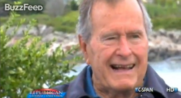 George Bush Impersonates Dana Carvey