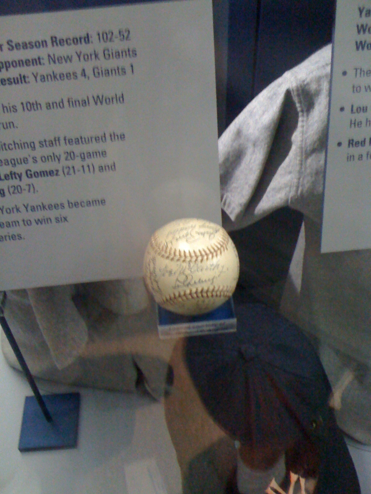 1937 New York Yankees Team Ball