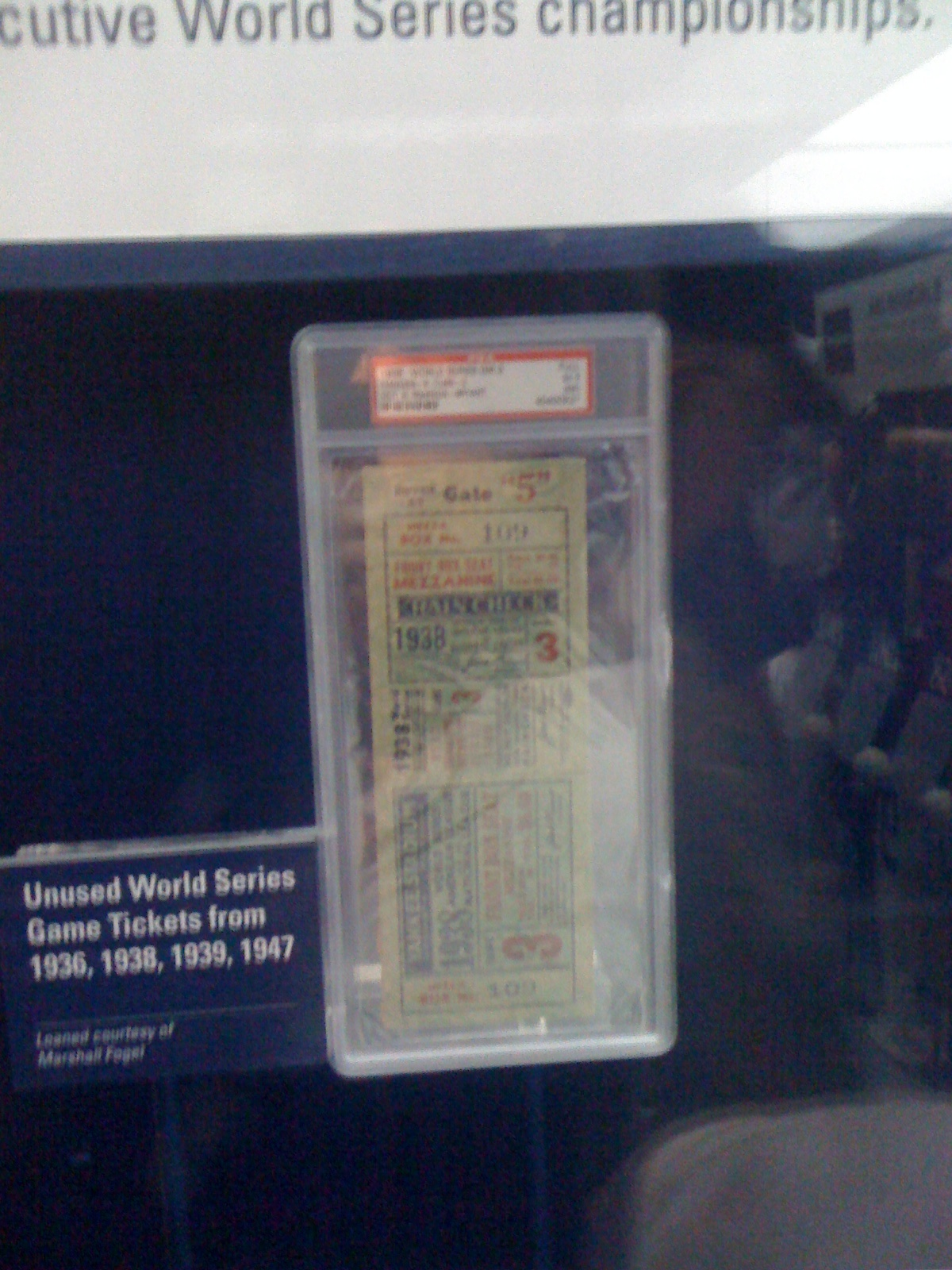 1938 World Series Ticket