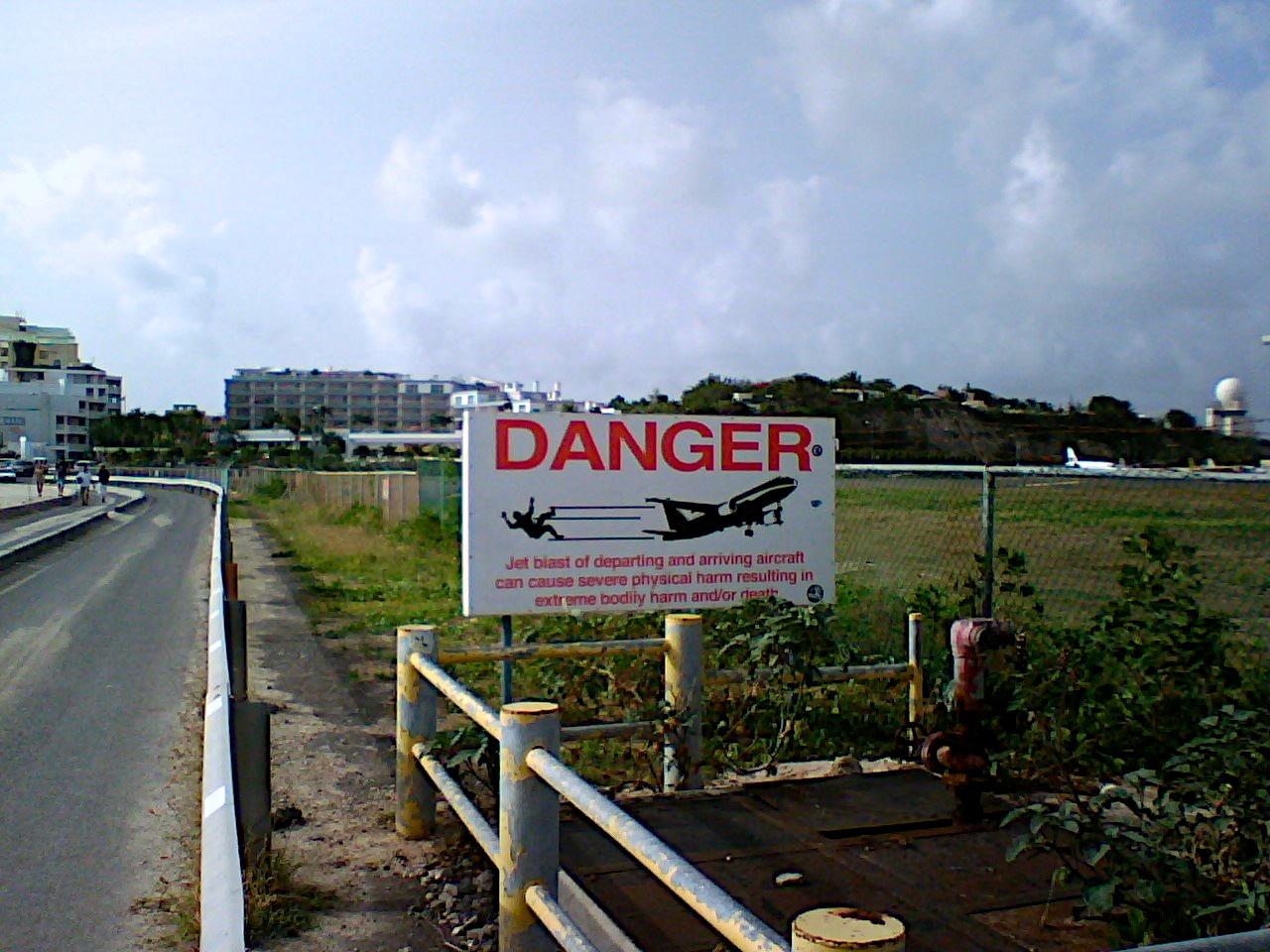 Danger Sign At PJIA