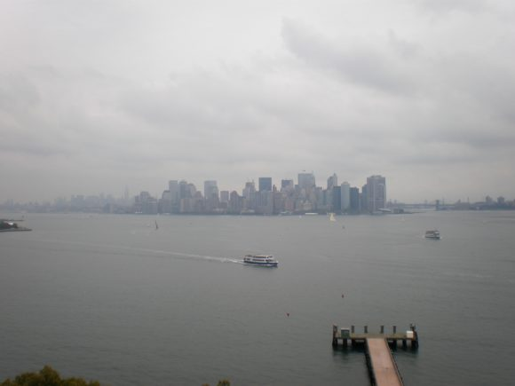 Manhattan from the base of the Statue of Libery