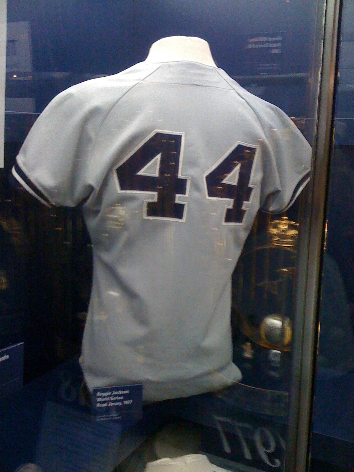 innovative design e9621 a80d1 Reggie Jackson Jersey | Yankee Museum | Robert Accettura's ...