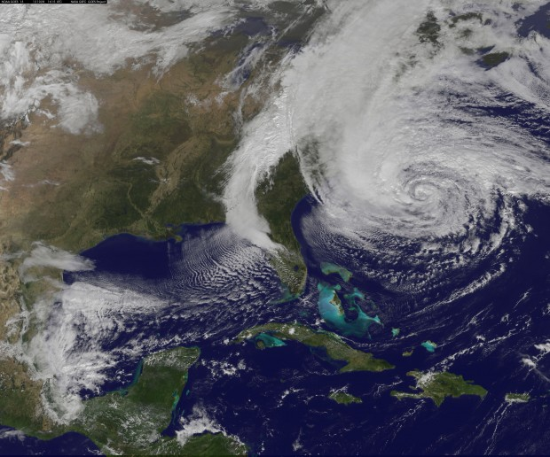 NASA GOES-13 Satellite Image Of Hurricane Sandy