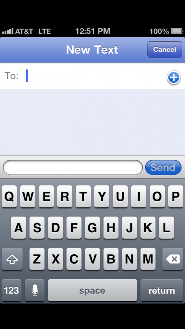 Letterboxed iPhone 5 Keyboard