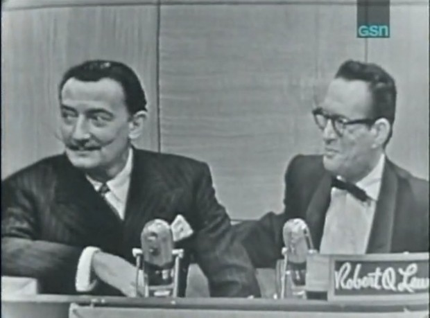 Salvador Dali Mustache TV game show